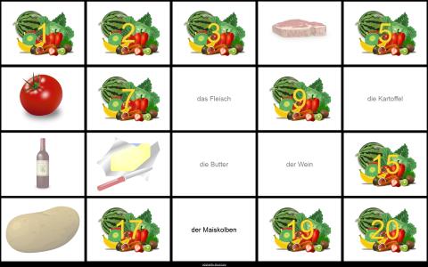 Memori s hranom na njemačkome